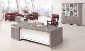 銀鬆木經理桌 H70-0165