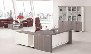 銀鬆木經理桌H70-0167